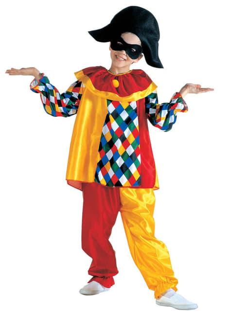 Disfraz de arlequín divertido para niño