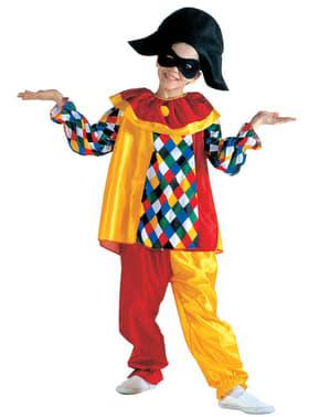 Costum de arlechin amuzant pentru băiat