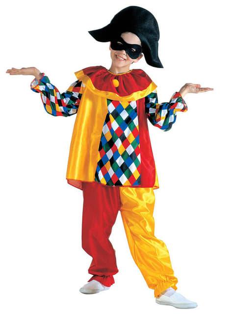 Grappige harlekijn kostuum voor kinderen
