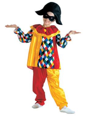 Lustiger Harlekin Kostüm für Jungen