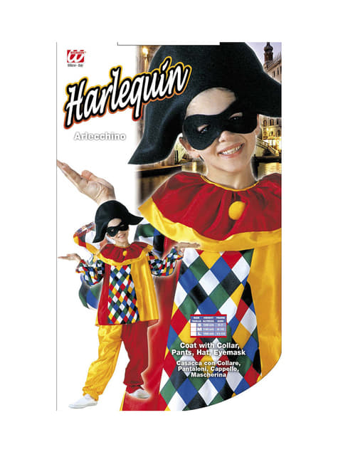 Disfraz de arlequín divertido para niño - original