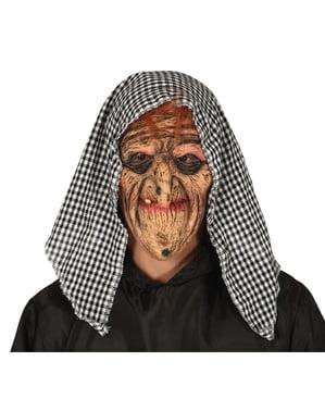 Oud heksenmasker voor volwassenen