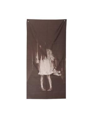 Cortina decorativa de menina fantasma
