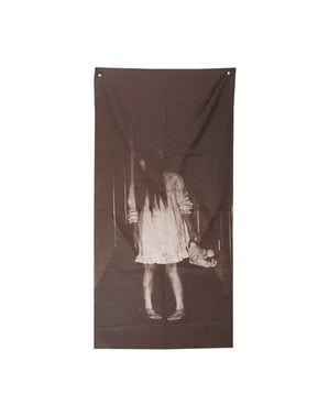 Zombiemädchen Deko-Vorhang