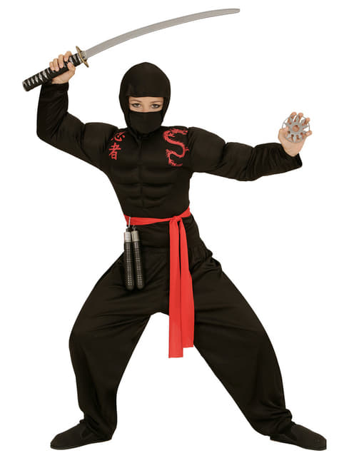 Fato de ninja musculoso para menino