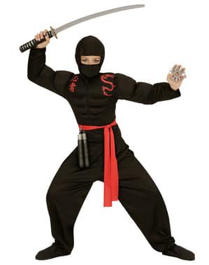 Disfraz de ninja musculoso para niño