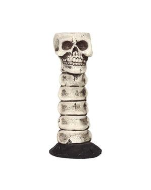 Bougeoir décoratif avec tête de mort (17 cm)