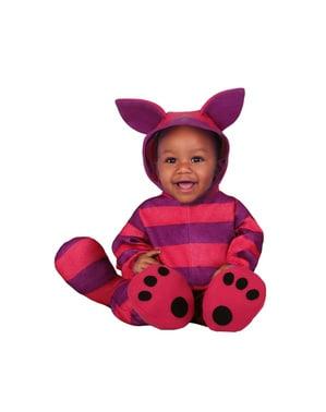 Gestreepte kitten unisex kostuum voor baby' s