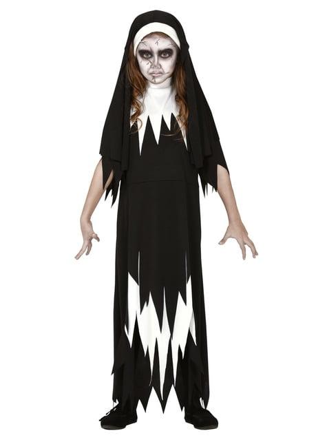 Disfraz de monja siniestra para niña