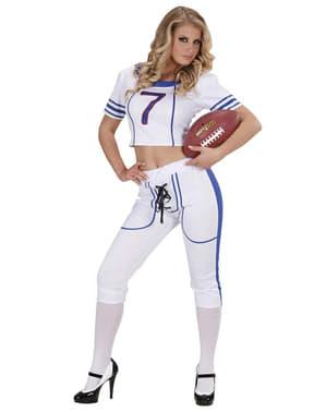 Costum jucătoare de fotbal american sexy pentru femeie