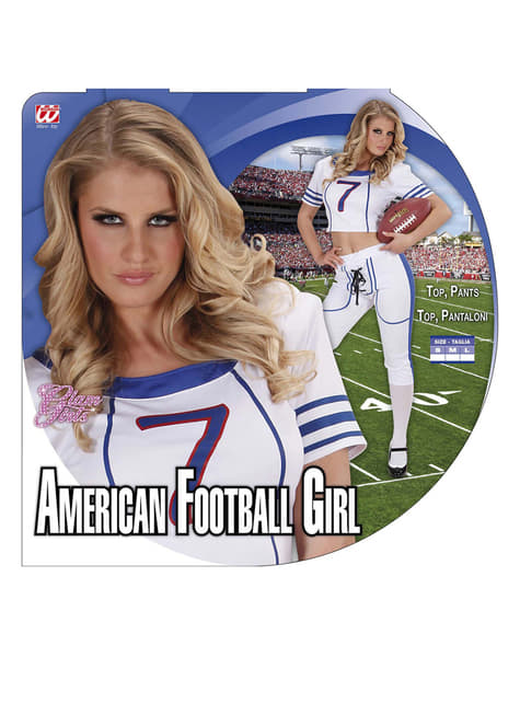 Disfraz de jugadora de fútbol americano sexy para mujer - original