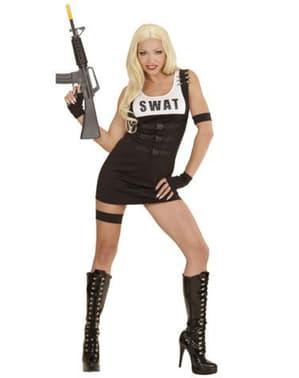 Fato de polícia SWAT para mulher