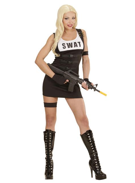 Womens SWAT Policewoman Costume