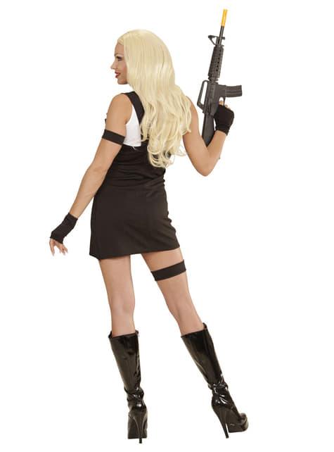 Disfraz de policía SWAT para mujer - traje