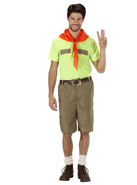 Mens Disciplined Boy Scout Costume