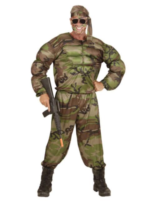 Férfi izmos katona jelmez