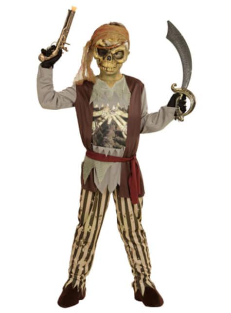 Disfraz de pirata de los mares fantasma para niño