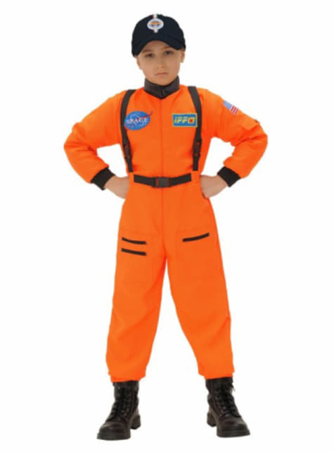 Orange Astronaut Costume for Boys