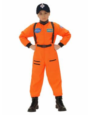 Pomarańczowy kostium Astronauta dla chłopców