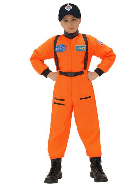 Disfraz de astronauta naranja para niño - infantil