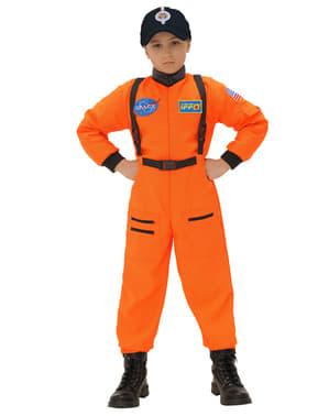 Astronauten Kostüm orange für Jungen