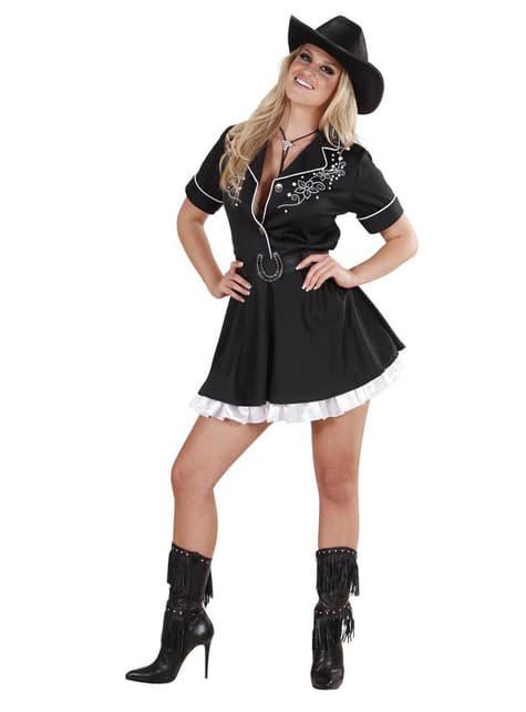 Fato de cowgirl de rodeio para mulher