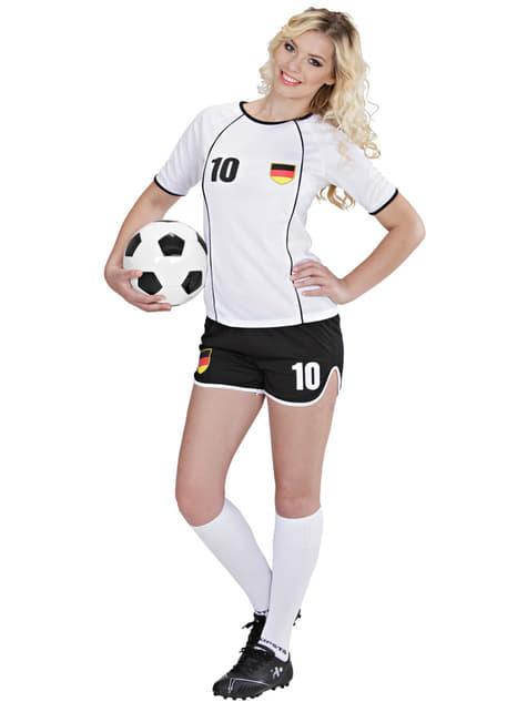 Disfraz de jugadora de fútbol Alemán para mujer