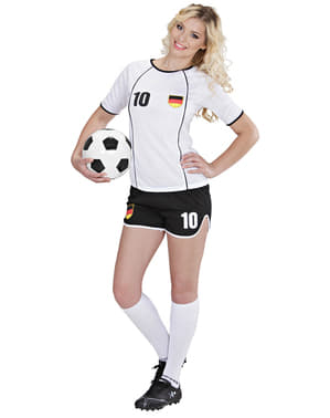 Costume da calciatrice tedesca da donna