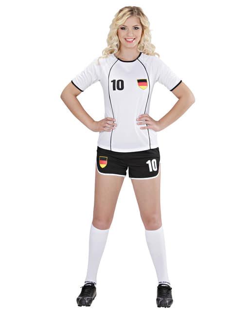 Disfraz de jugadora de fútbol Alemán para mujer - mujer
