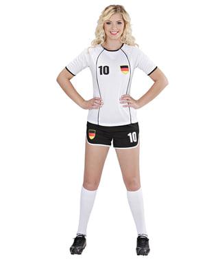 Fato de jogadora de futebol alemã para mulher