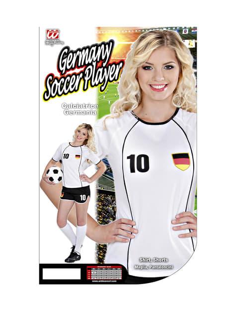 Disfraz de jugadora de fútbol Alemán para mujer - Halloween