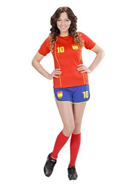 Fato de jogadora de futebol espanhola para mulher