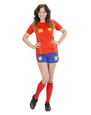 Spansk fodboldspillerkostume til kvinder