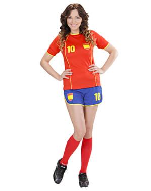 Spansk fotbollsspelare Maskeraddräkt Dam