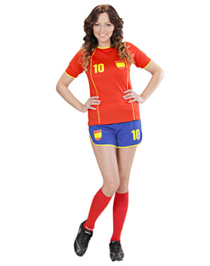 Womens Spanish Football Player Costume