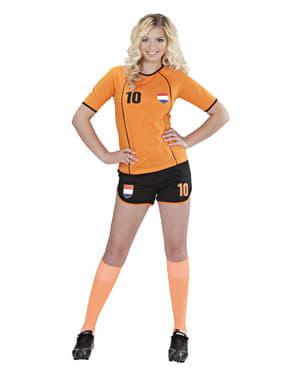 Hollandsk fodboldspillerkostume til kvinder