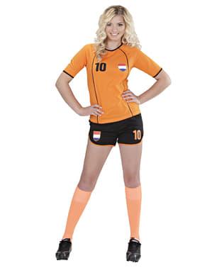 Fato de jogadora de futebol holandesa para mulher