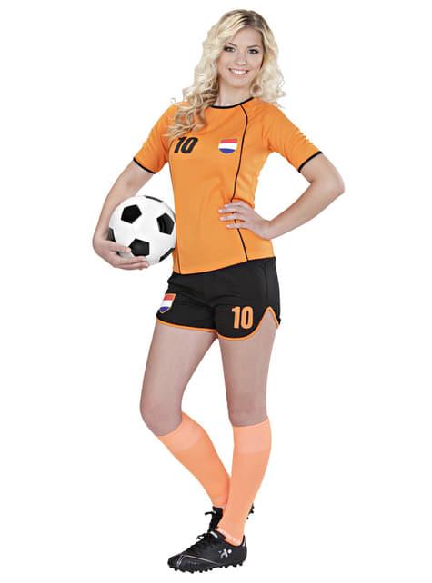 Womens Dutch Football Player Costume