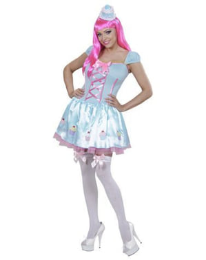 Womens Blue Cupcake Costume
