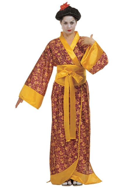Disfraz de geisha japonesa para mujer