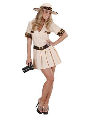 Safari Guide plus size kostyme til dame