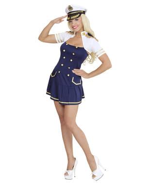 Disfraz de capitana de barco para mujer