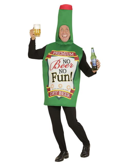 Disfraz de botella de cerveza para hombre