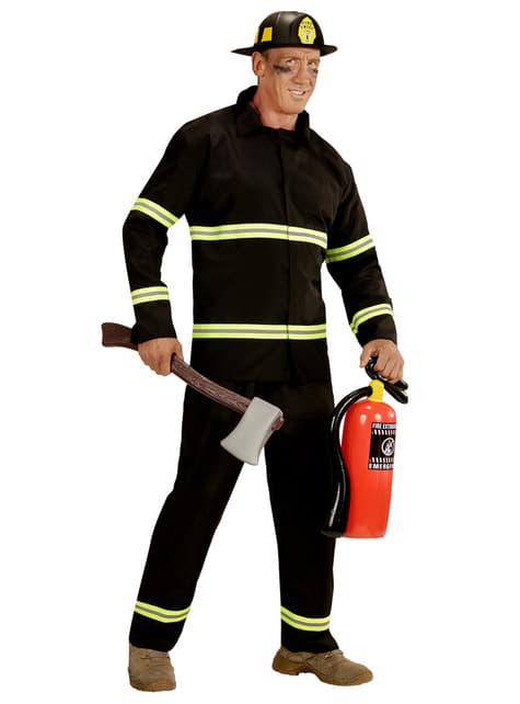 Disfraz de bombero trabajador para hombre talla grande