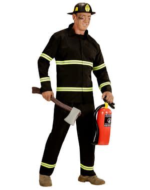 Feuerwehrmann Kostüm für Herren große Größe