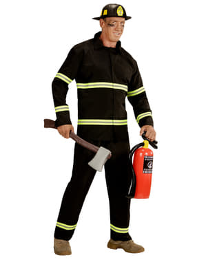 Mens Plus Size Working Fireman Costume