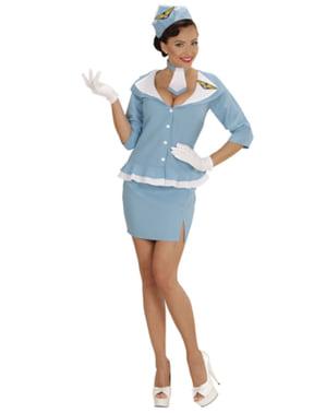 Costum de stewardeză retro pentru femeie