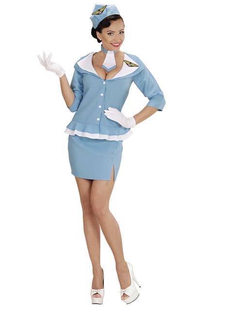 Disfraz de azafata retro para mujer - mujer