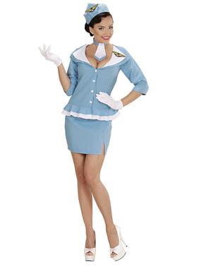 Womens Retro Air Hostess Costume