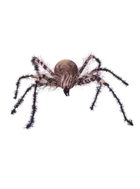 Decoración colgante de araña cebra halloween